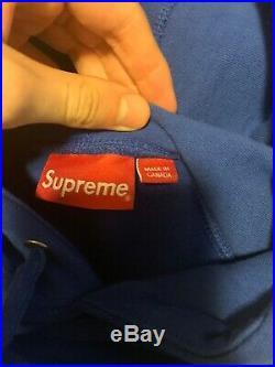Supreme Reflective Excellence Hooded Sweatshirt FW17 Royal Large Box Logo