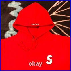 Supreme Reflective S Logo Hoodie (red) (large) Ss16 Bandana Box Logo Hoodie Tee