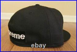 Supreme Reverse Box Logo New Era Hat Cap Size 7 3/8 Black SS21 Brand New 2021 DS