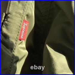 Supreme Reversible Checkered Ma-1 Military Jacket Olive Box Logo M65 A2 XL Ss16