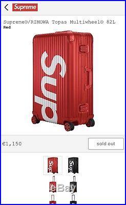 Supreme Rimowa Topas Multiwheel 82 L Red Box Logo