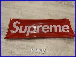 Supreme SS13 Glass Box Logo Ashtray Tray Plate Accessory case