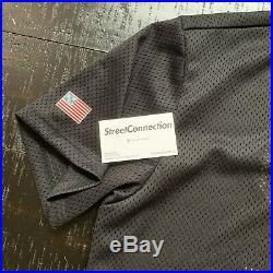 Supreme SS14 Baseball Shirt Henley Jersey Size Large Navy Box Logo Black Grey