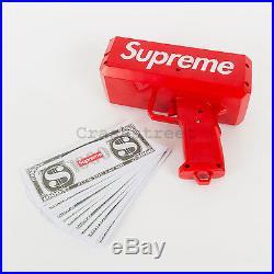 Supreme SS17 CashCannon Money Gun Cap Box Logo hat tee classic Keychain pin key