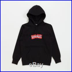 Supreme SS17 Comme des Garçons SHIRT Box Logo Hooded Sweatshirt CDG cap Black