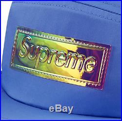 Supreme SS17 Iridescent Logo Camp Cap 5-Panel Box Logo Hat Berry Tee classic CDG