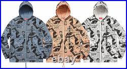 Supreme SS17 Thrasher Boyfriend Hooded Zip Up Jacket BOX LOGO HOODIE COAT TNF S