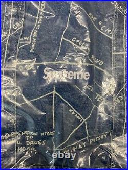 Supreme SS19 Gonz Map Denim Tote Box Logo Bogo