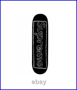 Supreme SS21 Kaws Chalk Box Logo Skateboard Black IN HAND FREE FAST SHIPPING