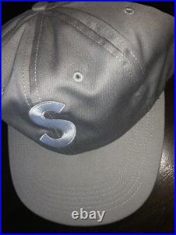 Supreme S Logo Grey 6 Panel Hat Box Logo OG