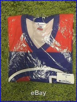 Supreme S/S 2014 Champion Hockey Top Jersey L/S Box Logo Orange Royal L