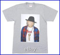 Supreme S/S 2015 Neil Young Box Logo Photo Tee Grey M-XL
