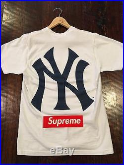Supreme S/S 2015 Supreme Yankee Box Logo Tee White Size M NO RESERVE