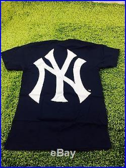 Supreme S/S 2015 Supreme Yankee Box logo Tee Navy Size M L XL