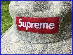 Supreme S/S 2016 Suede Camp Cap Pink Navy Box Logo Hat