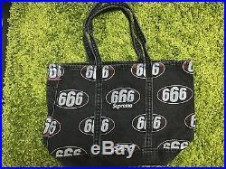 Supreme S/S 2017 666 Denim Tote Bag Box Logo Black Brown