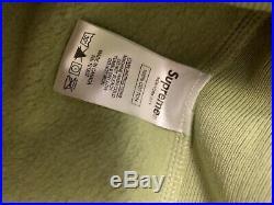 Supreme Sage Green Box Logo Hoodie FW16 Size LARGE L