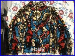 Supreme Saint Michael Fleece Jacket White Multi Size XL Box Logo