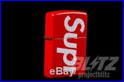 Supreme Shiny Red Logo Zippo Ss18 2018 Accessory Box Logo White