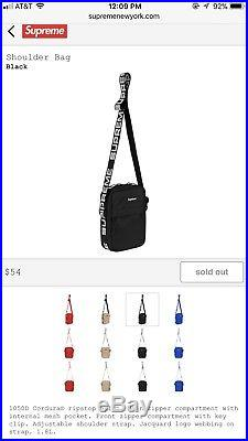 Supreme Shoulder Bag Satchel Black Ss18 Rare Bogo Box Logo