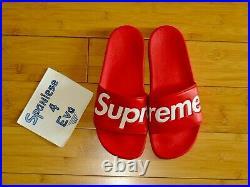 Supreme Slides Sandals Flip Flops S/S 14 Red box Logo Accessories Size 9