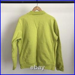 Supreme Small Box Logo Stadium Bomber Varsity Baseball Cotton Jacket Kermit Sz L