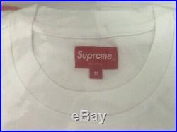 Supreme Small Box Logo Tee T-Shirt White Medium Cotton Crewneck New with Tags