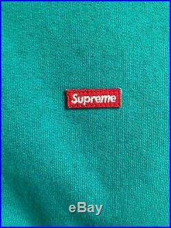 Supreme Small Box Logo Zip Up Hooded Sweatshirt Hoodie Aqua Size M SS17