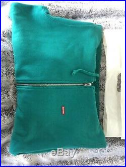 Supreme Small Box Logo Zip-Up Sweatshirt Hoodie Aqua Size Medium M SS17