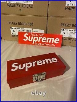 Supreme Small Metal Box Storage Box Rare Ss17 Box Logo USED! SHIPS FAST