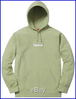 Supreme Small Sage Box Logo Hooded Sweatshirt Size S BOGO Peach Black Red