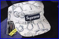 Supreme Spring Summer 2008 Rare Vintage Camp Cap White Alpine Hat Box Logo