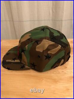 Supreme Stars Camp Cap 5 Panel Hat Green Camouflage Red Box Logo FW13 NWOT