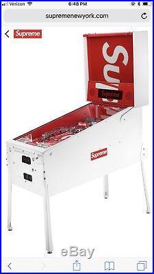 Supreme Stern Pinball Machine Red Box Logo Rare Drop 14 2018 SS