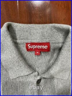 Supreme Stripe Cardigan Grey 2012 Rare Medium Box Logo