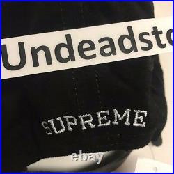 Supreme Suede S Logo 6 Panel Black Box Logo Bogo Hat Strapback New FW16