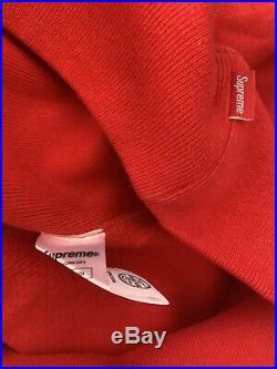 Supreme Swarovski Box Logo Hoodie. Size S. Color Red