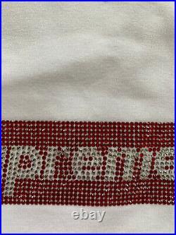 Supreme Swarovski Box Logo Tee Shirt Size XL White