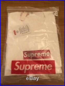 Supreme Swarovski Crystal Box Logo Tee White Size XL 2019