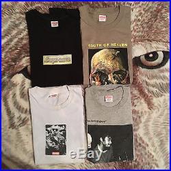 Supreme T-shirt Lot Taxi Driver Bling Box Logo Bad Brains Slayer Medium Large