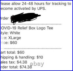 Supreme Takashi Murakami Relief Box Logo Tee White Size XL