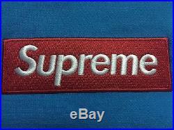 Supreme Teal Box Logo Hoodie Blue