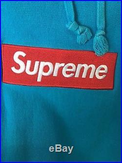 Supreme Teal Box logo Very Rare Excellent CONDITION