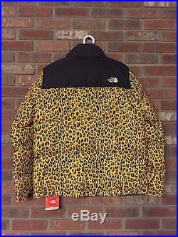Supreme The North Face Leopard Nuptse Jacket Coat Drake XL Box Logo 2017 Bubble