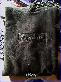 16c131dd6795 Supreme Tonal Box Logo Hoodie BLACK (XL)