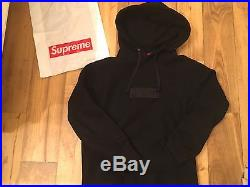 Supreme Tonal Box Logo Hoodie Black Size Small Bogo 100% Authentic