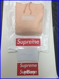Supreme UA Peach Box Logo Hoodie Size XL