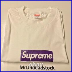 Supreme Unreleased F&F 3 6 Mafia Juicy J Purple Box Logo BOGO T-Shirt Tee Sz XL