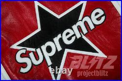Supreme / Vanson Leather Star Jacket White S M L XL Ss17 2017 Black Red Box Logo