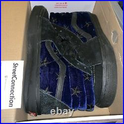 Supreme Velvet Stars Vans Sk8 Hi Era Pro Size 10.5 Used Worn Box Logo Blue Royal